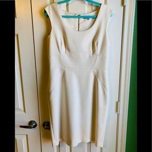 2/$50Antonio Melani Ivory Sheath Dress Size 10